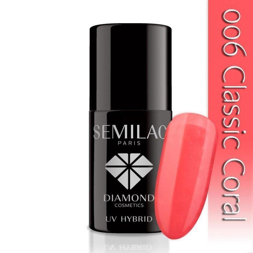 006 uv hybrid semilac classic coral 7ml