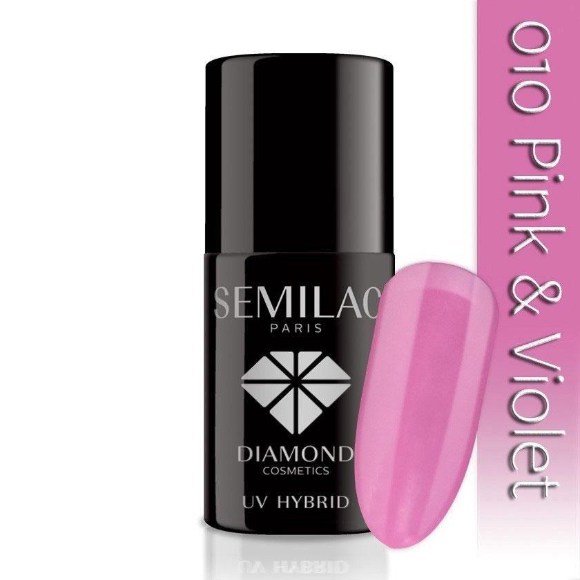 010 uv hybrid semilac pink  violet 7ml