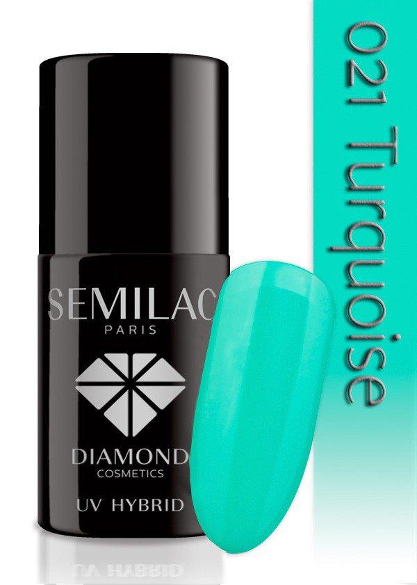 021 uv hybrid semilac turquoise 7ml