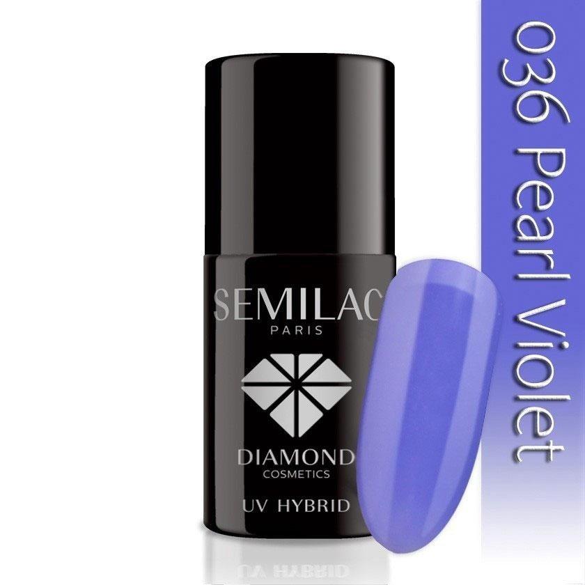 036 uv hybrid semilac pearl violet 7ml