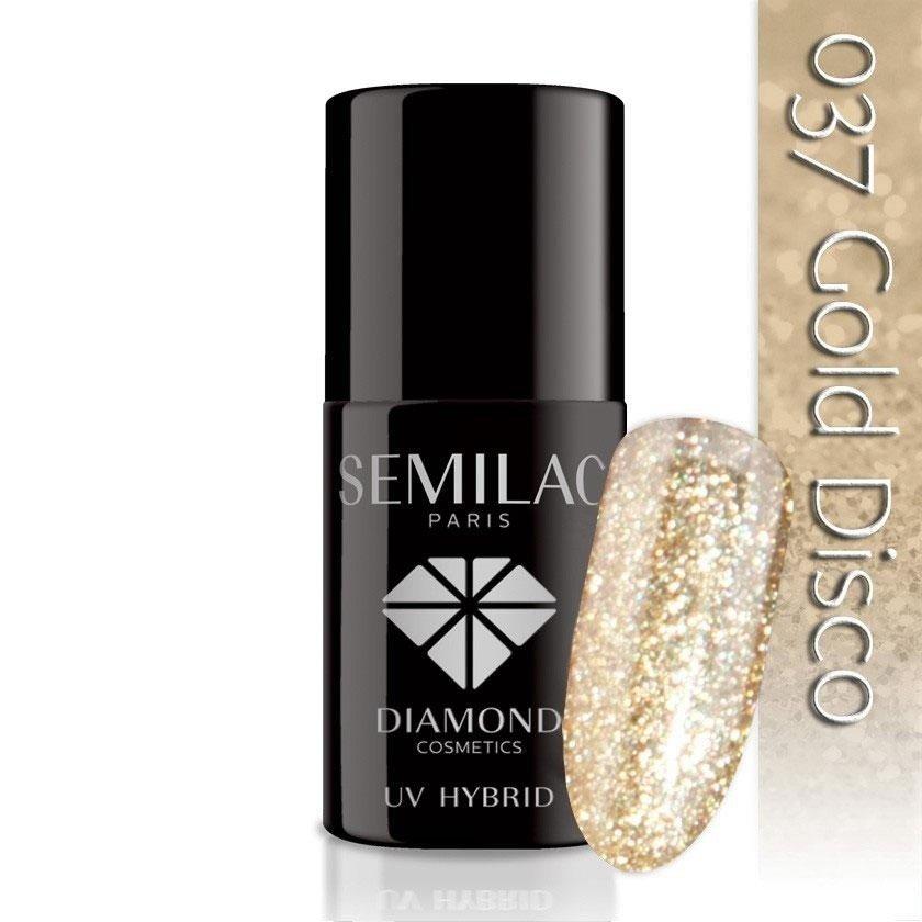 037 uv hybrid semilac gold disco 7ml