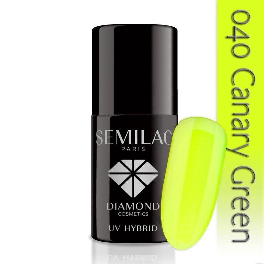 040 uv hybrid semilac canary green 7ml