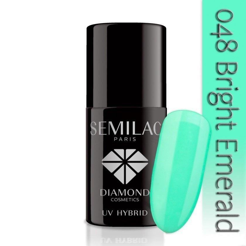 048 uv hybrid semilac bright emerald 7ml