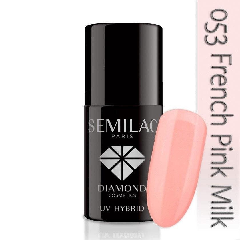 053 uv hybrid semilac french pink milk 7ml