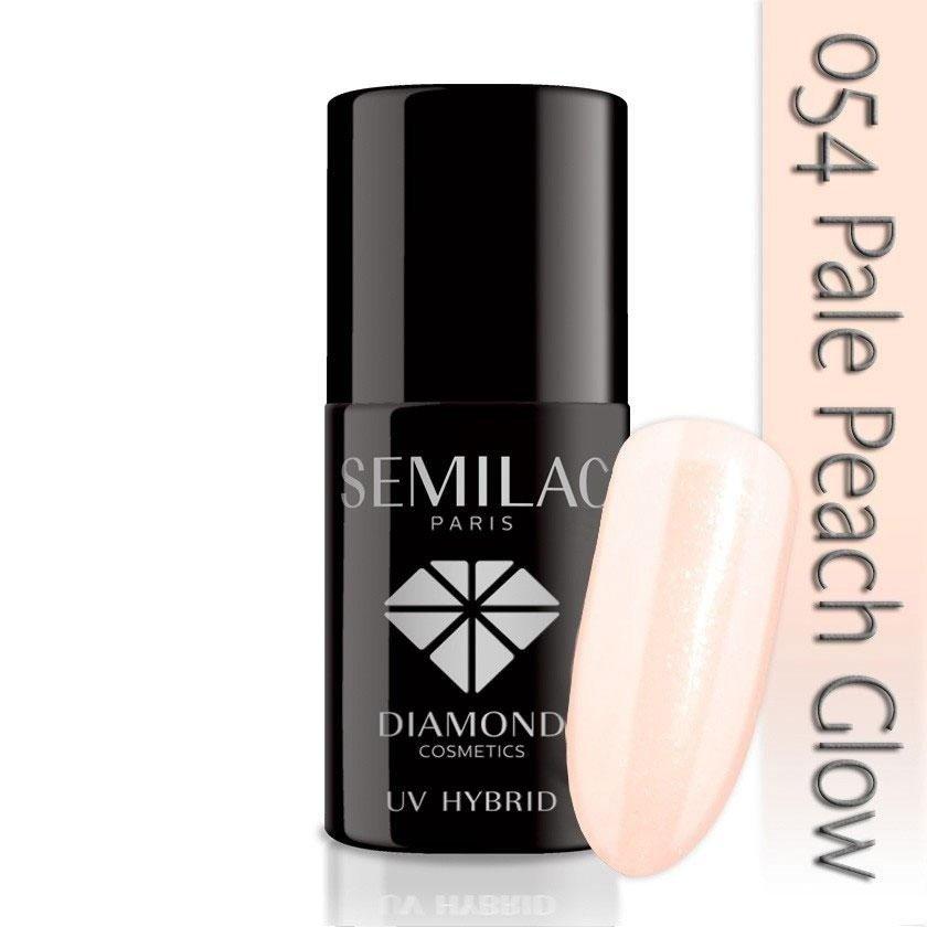 054 uv hybrid semilac pale peach glow 7ml