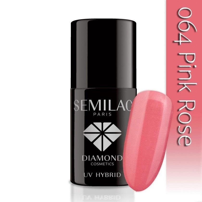 064 uv hybrid semilac pink rose 7ml