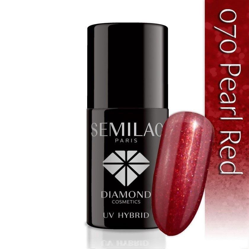 070 uv hybrid semilac pearl red 7ml