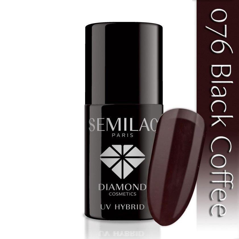 076 uv hybrid semilac black coffee 7ml