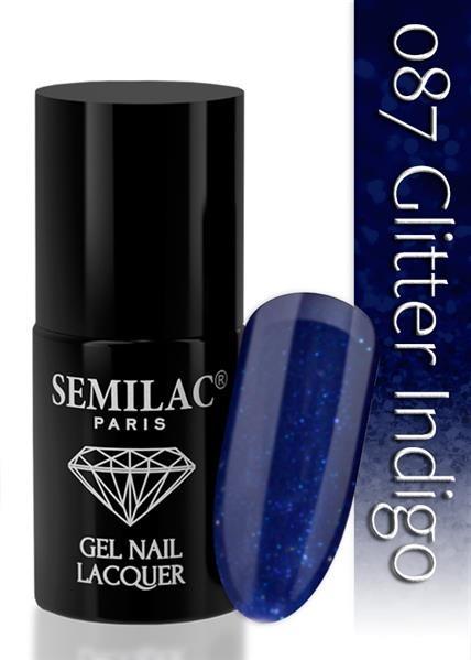 087 uv hybrid semilac glitter indigo 7ml