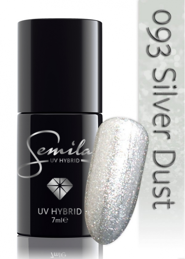 093 uv hybrid semilac silver dust 7ml