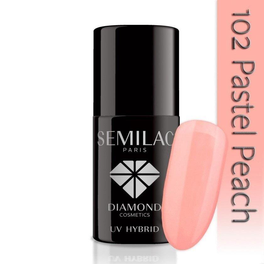 102 uv hybrid semilac pastel peach 7ml