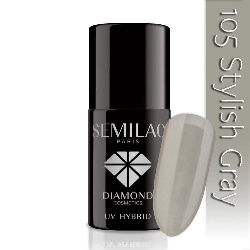 105 uv hybrid semilac stylish gray 7ml