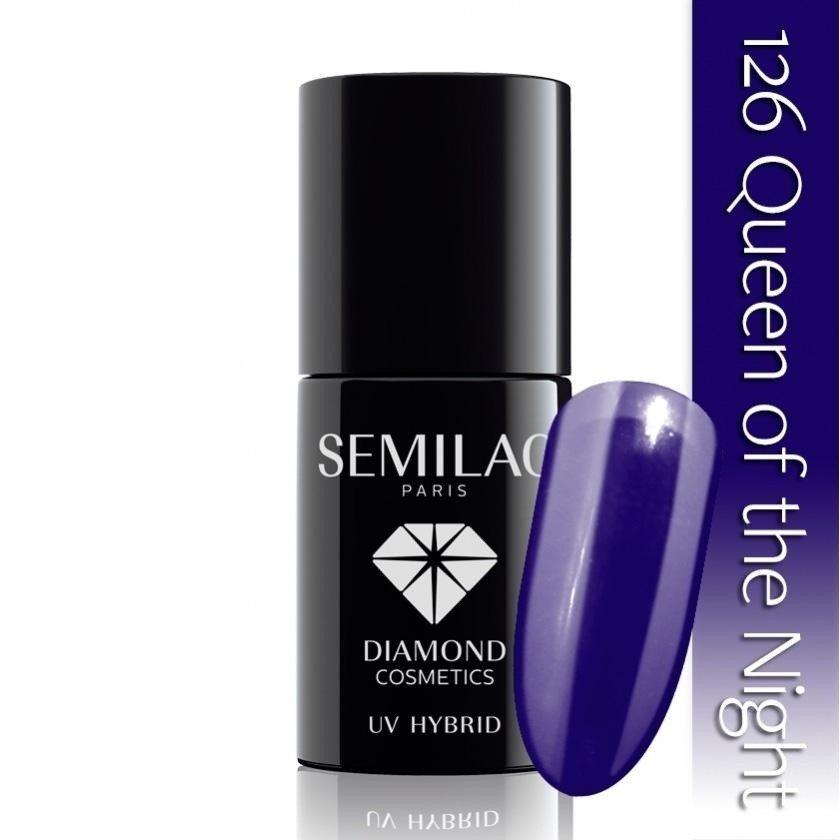126 uv hybrid semilac queen of the night 7ml