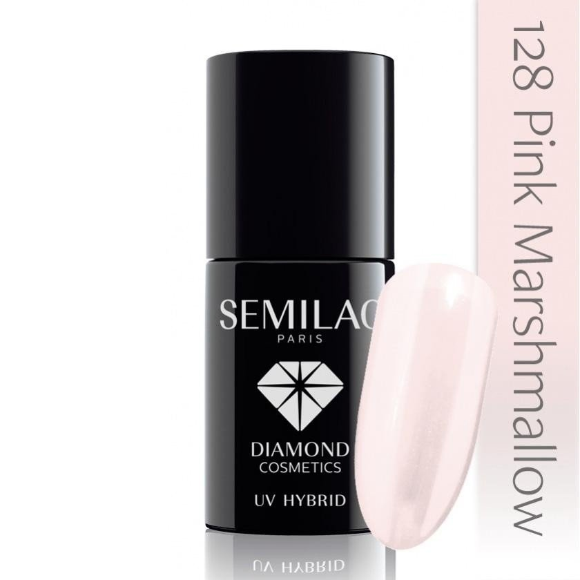 128 uv hybrid semilac pink marshmallow 7ml