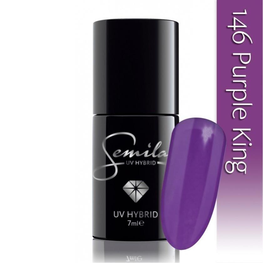 146 uv hybrid semilac purple king 7ml