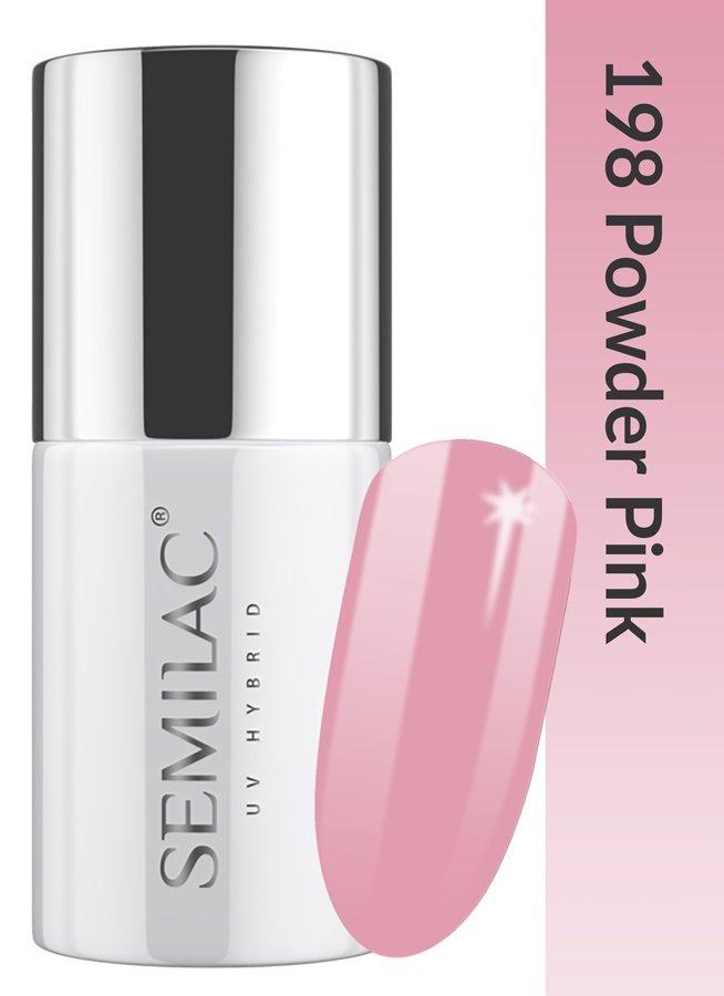 198 uv hybrid semilac business line powder pink 7ml