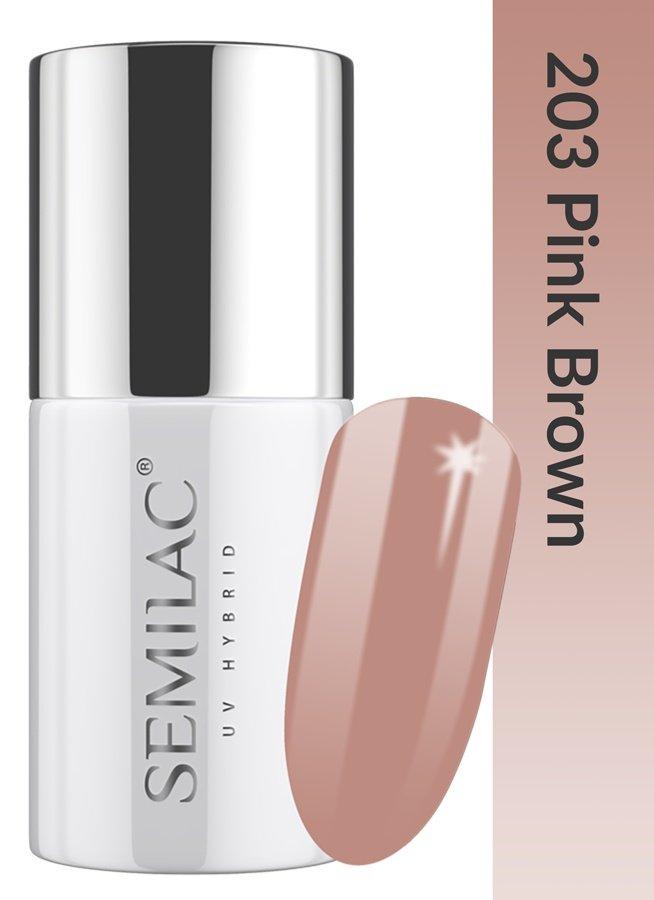 203 uv hybrid semilac business line pink brown 7ml