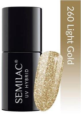 260 uv hybrid semilac platinum light gold 7ml