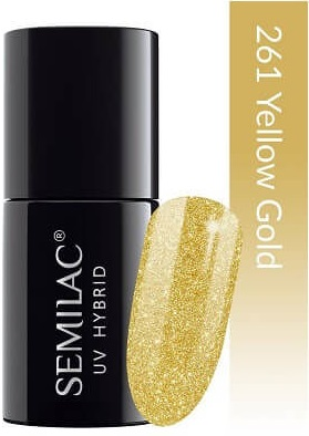 261 uv hybrid semilac platinum yellow gold 7ml