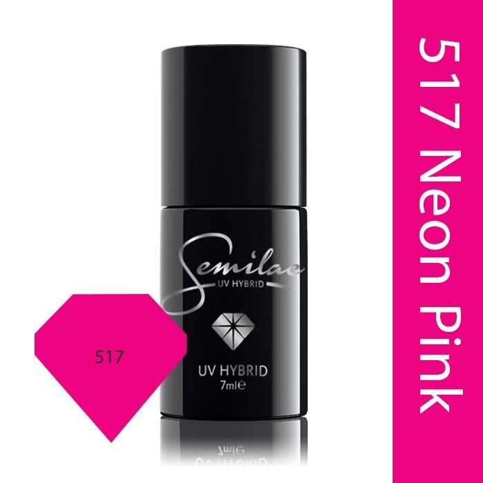 517 uv hybrid semilac margaret neon pink 7ml