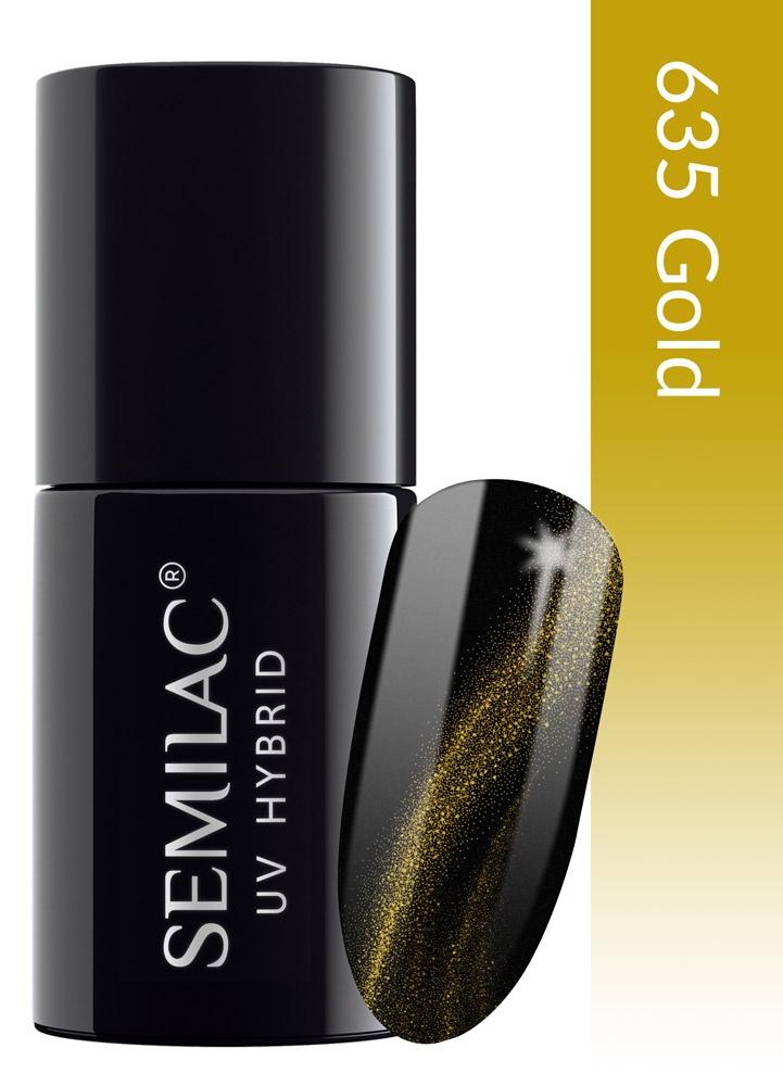 635 semilac cat eye 3d gold
