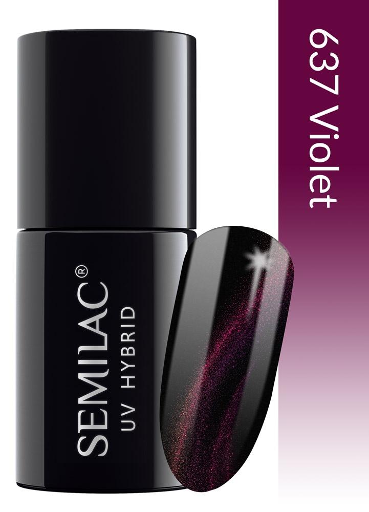 637 semilac cat eye 3d violet