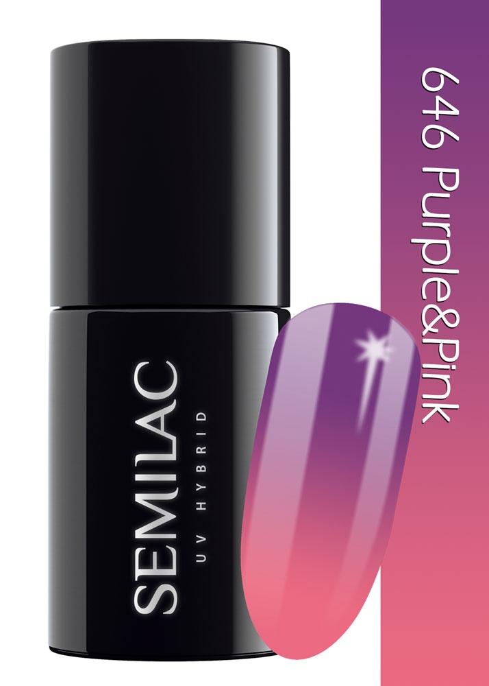 646 semilac thermal purple  pink
