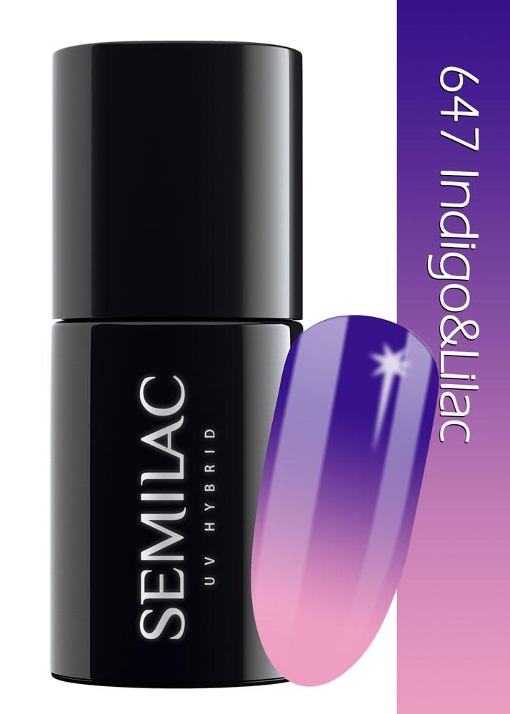 647 semilac thermal indigo  lilac