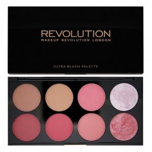 makeup revolution ultra blush sugar paleta 8 rozy