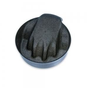 miseczka do manicure czarna brokatowa