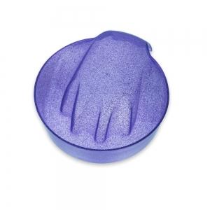 miseczka do manicure fioletowa brokatowa