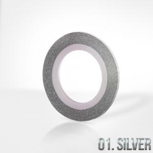 nitka do zdobien krazek 01 silver brokat