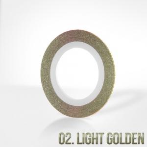 nitka do zdobien krazek 02 light gold brokat