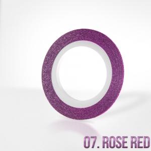 nitka do zdobien krazek 07 rose red brokat