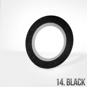 nitka do zdobien krazek 14 black brokat