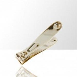 obcinacz do paznokci maly metalowy zloty