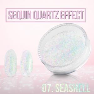 pylek sequin quartz effect sea shell