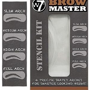 w7 brow master stencil kit zestaw 4 szablonow