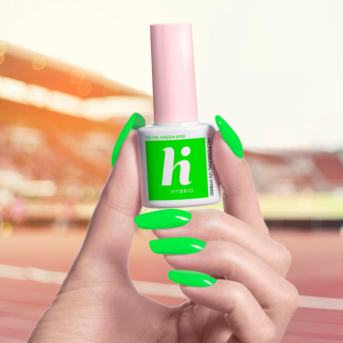 119 lakier hi hybrid neon green 5ml