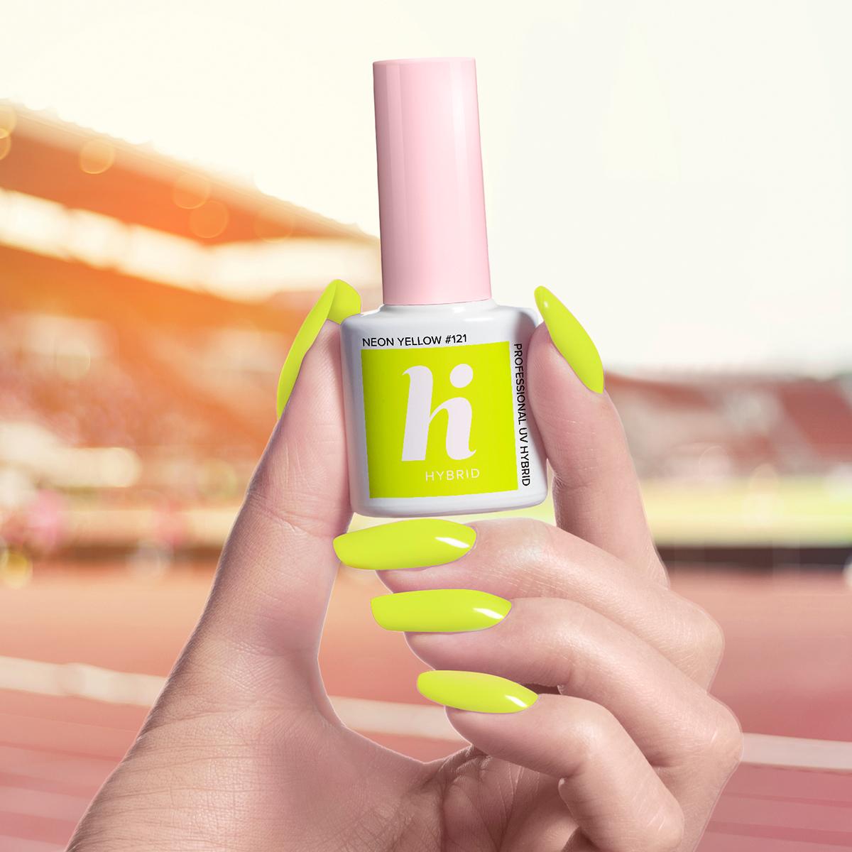 121 lakier hi hybrid neon yellow 5ml