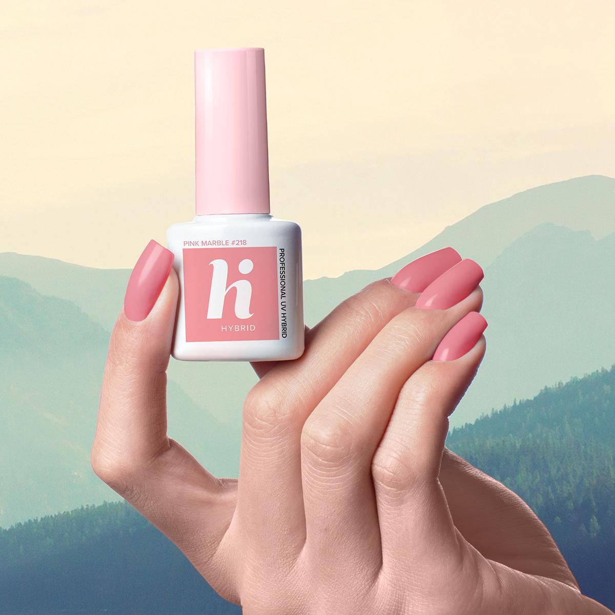 218 lakier hi hybrid pink marble 5ml