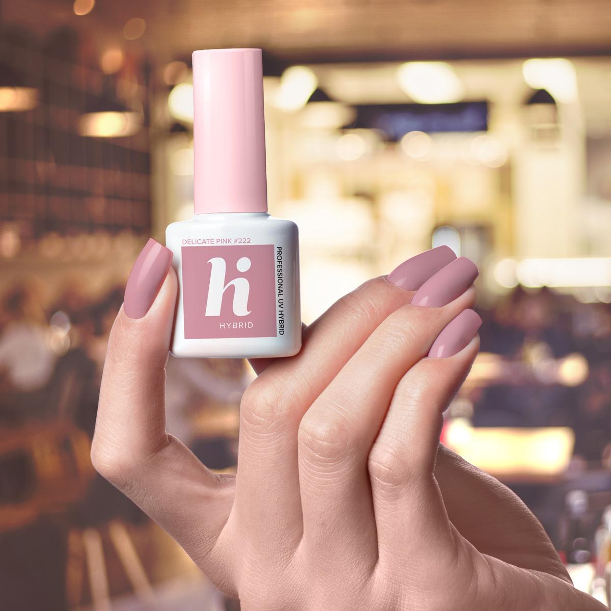 222 lakier hi hybrid delicate pink 5ml