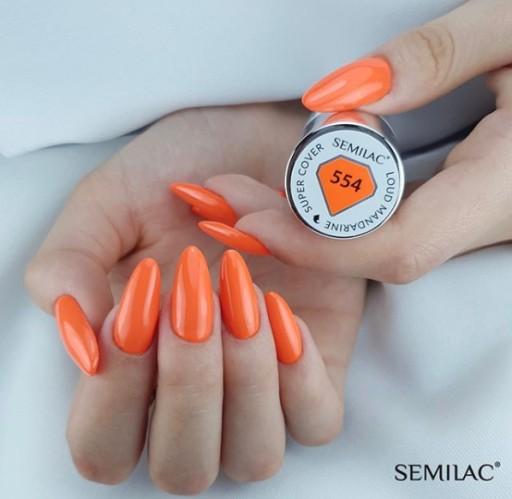 554 uv hybrid semilac super cover loud mandarine..
