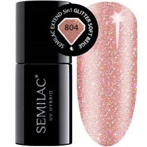 804 semilac extend 5in1 glitter soft beige 7ml