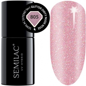 805 semilac extend 5in1 glitter dirty nude rose