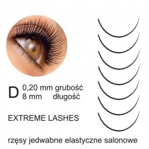 extreme lashes rzesy jedwabne d 020 8mm