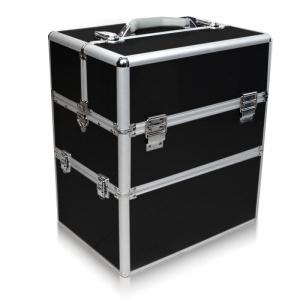 kuferek kosmetyczny dwuczesciowy czarny