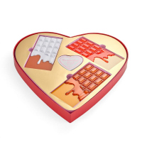 makeup revolution chocolate heart zestaw..
