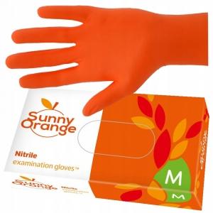 rekawice nitrylowe a 100szt m pomaranczowe