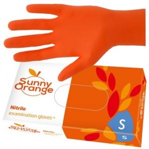 rekawice nitrylowe a 100szt s pomaranczowe